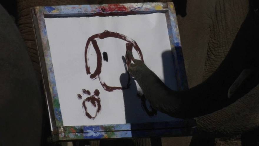 2 Elefanten malen und schreiben...
