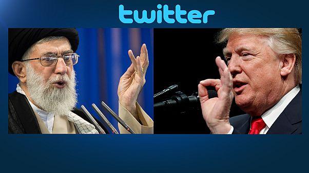 ویدئو؛ جدال توئیتری رهبران ایران و آمریکا