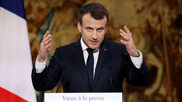 رئیس جمهوری فرانسه در دیدار با اصحاب رسانه