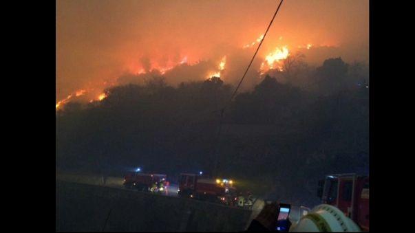 Tempête Eleanor : la Corse en proie aux flammes