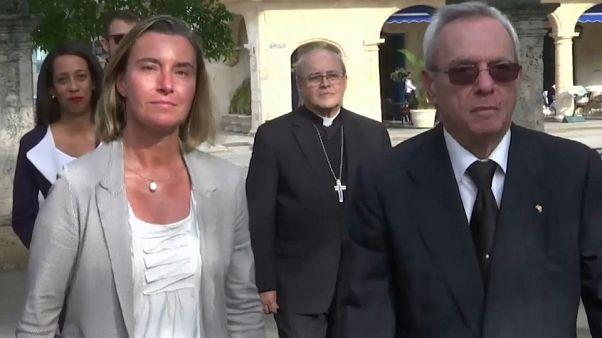 Mogherini visita Cuba para reforzar la cooperación