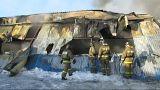Пожар на фабрике под Новосибирском: есть жертвы