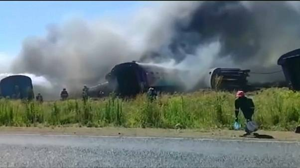 Deadly passenger train crash in South Africa