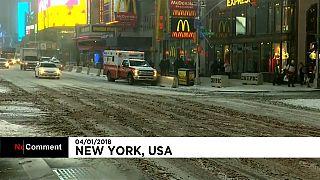 Nueva York sufre la peor tormenta de nieve de la temporada