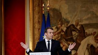 Macron présente sa feuille de route diplomatique