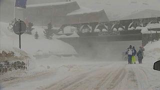 La tempête Eleanor frappe les Alpes françaises