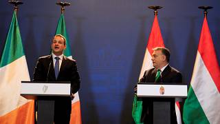 Leo Varadkar and Viktor Orban hold a joint news conference in Budapest