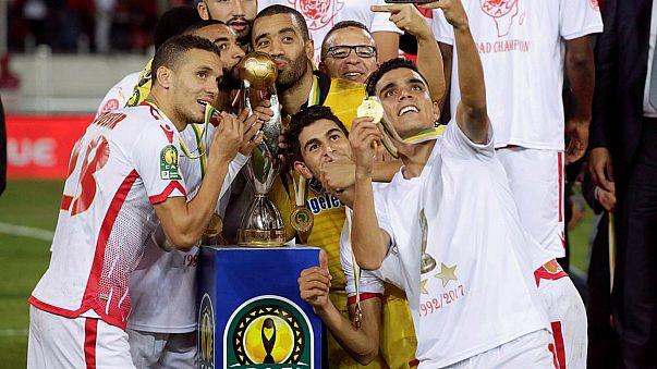 الوداد البيضاوي بعد فوزه ببطولة دوري أبطال افريقيا