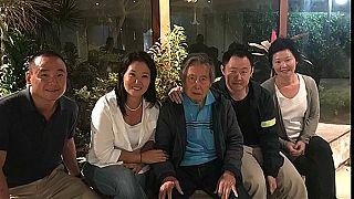 Fujimori con sus cuatro hijos