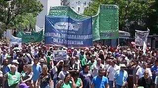 Manifestaciones y paros en Argentina por la precariedad laboral