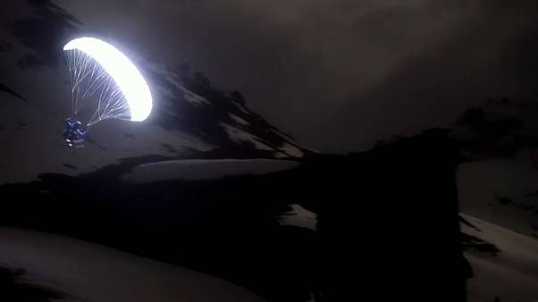 Watch: spectacular moonlight journey through the Alps
