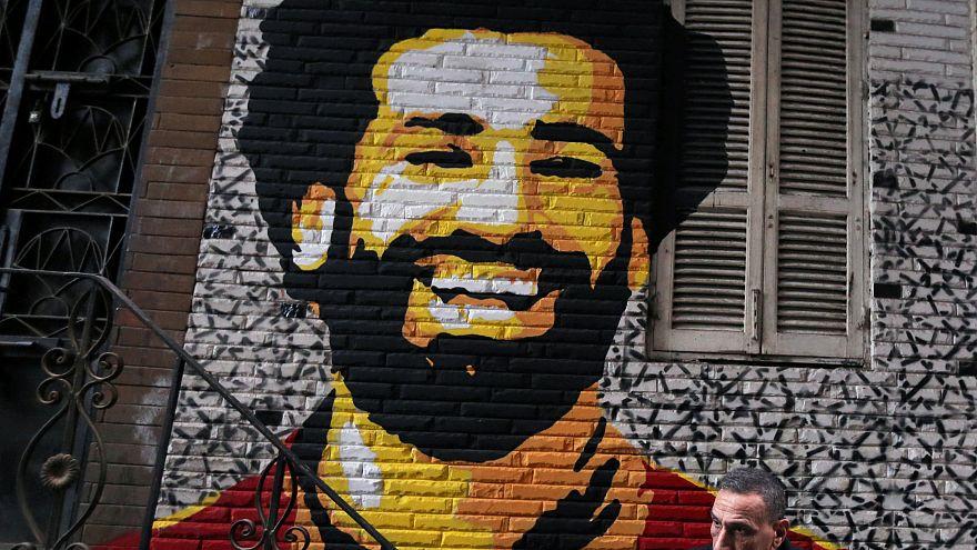 Wandbild Salahs in Kairo.