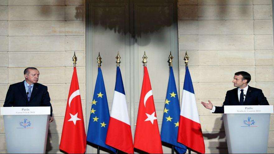 Erdoğan ve Macron'dan terörizme karşı ortak mücadele sözü