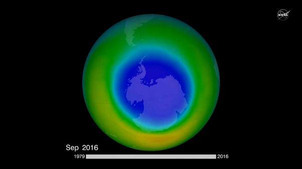 La NASA obtiene pruebas de la reducción del agujero de ozono