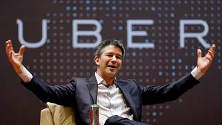 Uber CEO Travis Kalanick at the Indian Institute of Technology in Mumbai