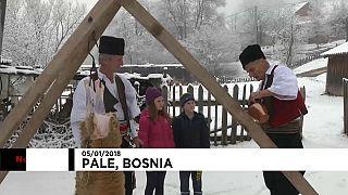 Cristãos ortodoxos na Bósnia celebram Tustyndan e Natal