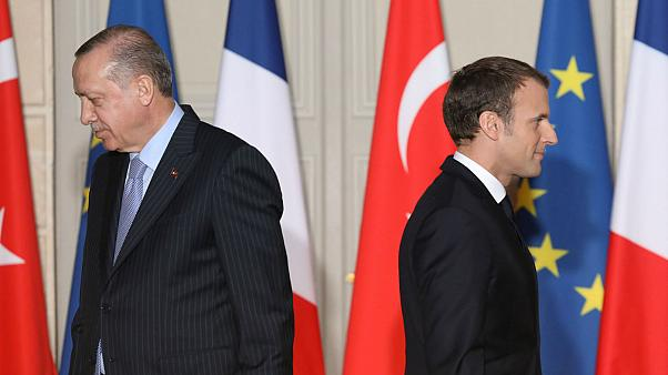 روسای جمهور فرانسه و ترکیه