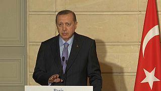 Erdogan pierde los estribos ante la prensa en París