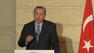 Recep Tayyip Erdogan clashes with French journalist
