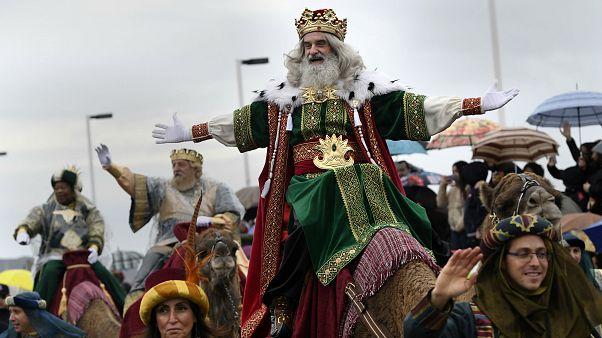 Epiphany parade in Gijon, Spain January 5, 2018