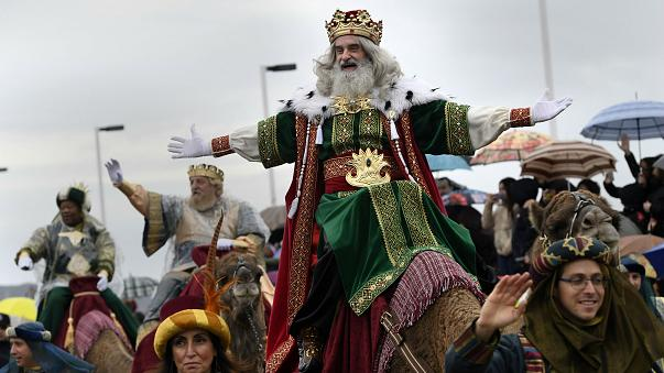 Epiphany parade in Gijon, Spain January 5, 2018