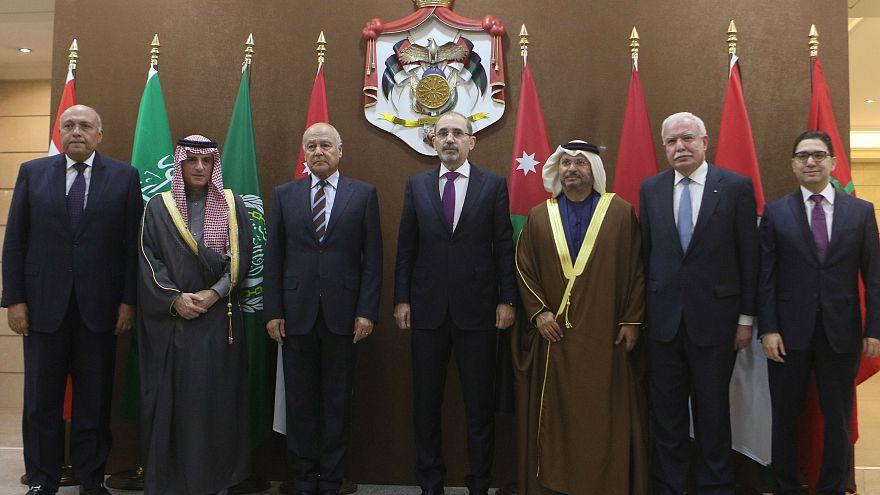 Ministers from six Arab nations met in Amman, Jordan on Jan. 6