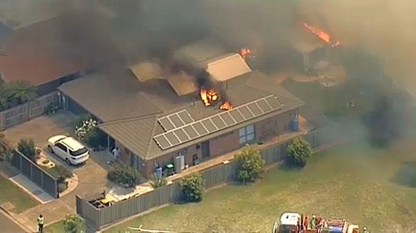 Bozóttüzek tombolnak Melbourne közelében