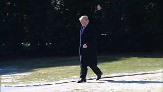 Donald Trump a caminho de Camp David