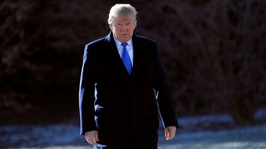 Donald Trump amerikai elnök a Fehér Ház kertjében 2018. január 5-én