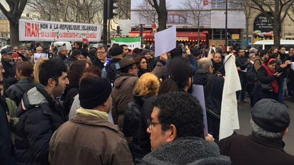 آلبوم عکس: تظاهرات حامیان اعتراضات ایران در پاریس
