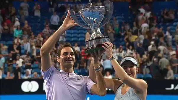 Ρότζερ Φέντερερ και Μπελίντα Μπέντσιτς σήκωσαν το Hopman Cup