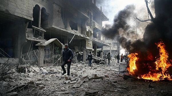 حملات هوایی به غوطه شرقی در سوریه ۱۷ کشته بر جا گذاشت
