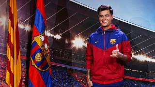 FC Barcelona present new signing Brazilian midfielder Philippe Coutinho