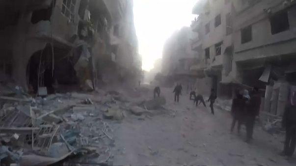 Ataques aéreos em Ghouta Oriental, enclave da oposição síria