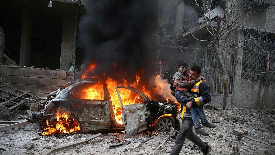 Doğu Guta'da hava saldırıları: 17 kayıp