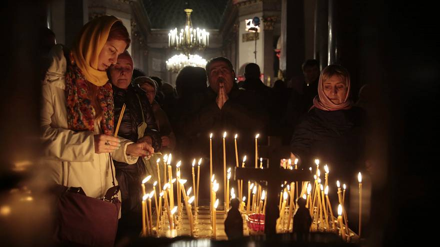 Ortodokslar Noel'i ayinlerle kutladı
