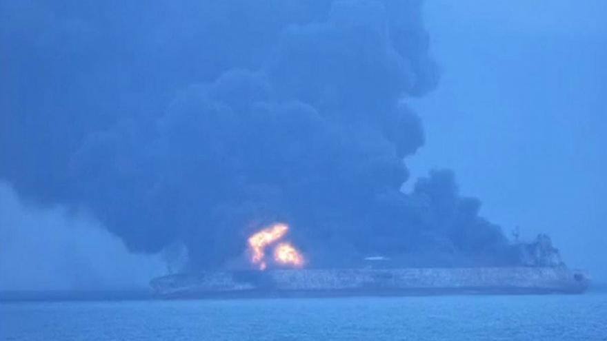 Iranian tanker collides with Chinese ship