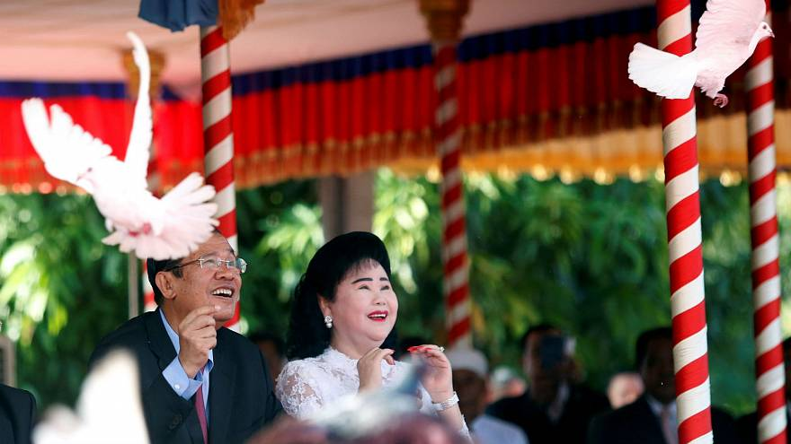 Cambodian Prime Minister Hun Sen in Phnom Penh, Cambodia, Jan. 7