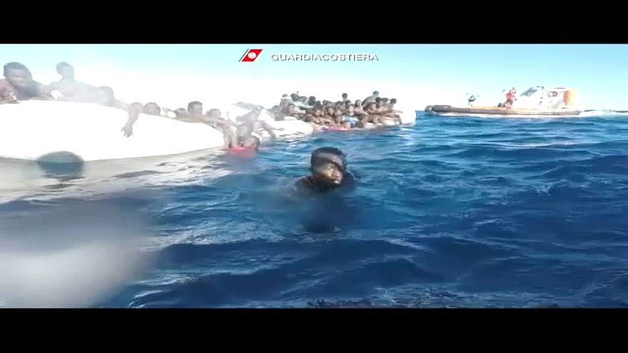 Italian coast guard rescues migrants off Libya's coast