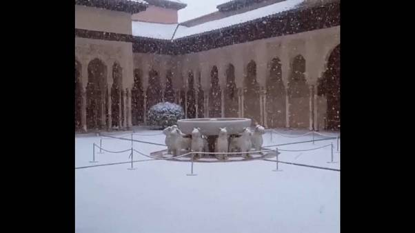 Neve em Granada