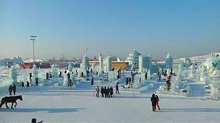Jégszobrok fesztiválja Kínában