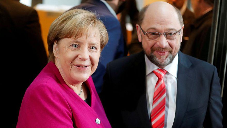 Angela Merkel launches new round of preliminary coalition talks
