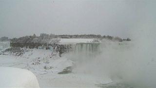Niagarafälle teilweise zugefroren