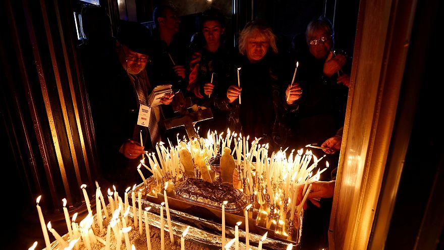 Orthodoxe Christen feiern Weihnachten