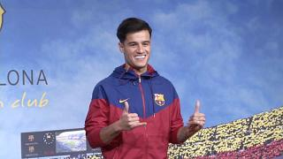 Coutinho makes brief appearance at Barcelona