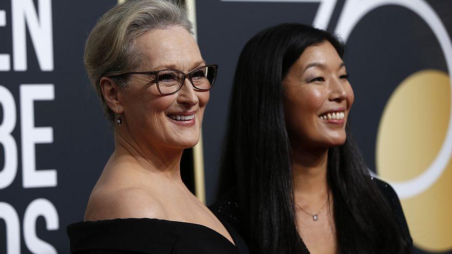 Meryl Streep y la directora de la Alianza de las Trabajadoras Domésticas