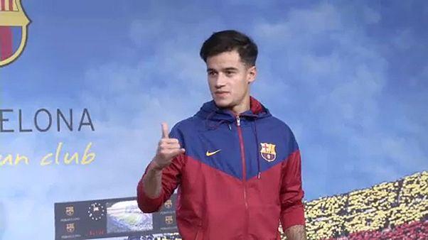 Philippe Coutinho apresentado em Camp Nou
