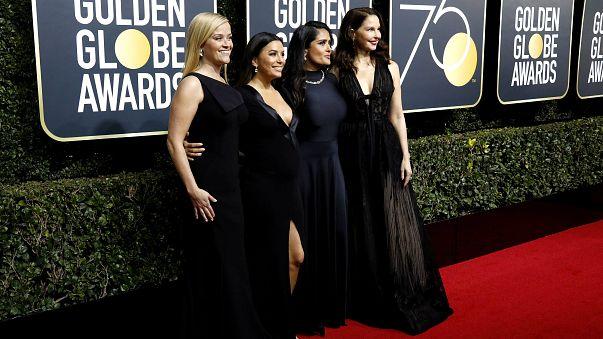 Altın Küre Ödül Töreni'nde kırmızı halıyı siyah elbiseler kapladı