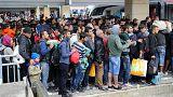 Wien - Westbahnhof, Migranten