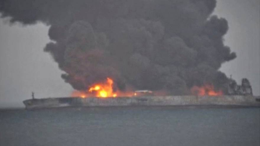 32 crew of Iranian oil tanker Sanchi are still missing